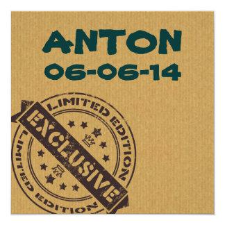 faire-part de naissance vintage unique d'amusement carton d'invitation  13,33 cm