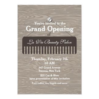 Faire-part d'ouverture officielle de salon de carton d'invitation  12,7 cm x 17,78 cm