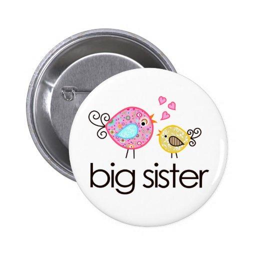 Faire-part fantaisie de T-shirt de grande soeur d' Badges Avec Agrafe