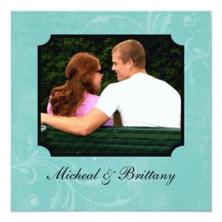Faire-part floral de fiançailles de mariage