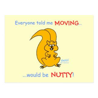 Faire-part mobile d'écureuil humoristique cartes postales