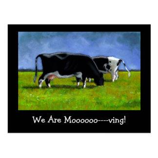 Faire-part mobile : Vaches du Holstein : Art en Carte Postale