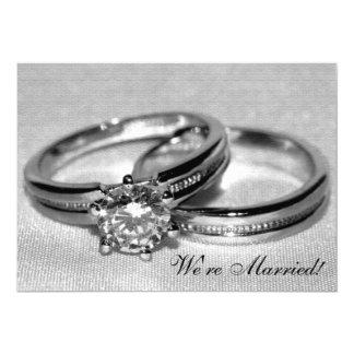 Faire-part réglé de mariage d'anneau de noces de