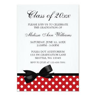 Faire-part rouge d'obtention du diplôme d'arc de carton d'invitation  12,7 cm x 17,78 cm