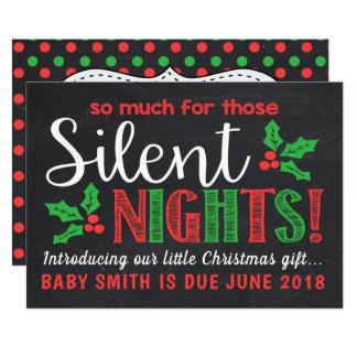 Faire-part silencieux de grossesse de nuits