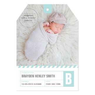 Faire-part vintage de bébé d'étiquette