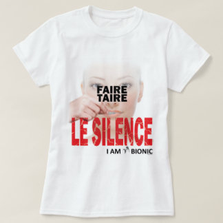 faire taire le silence t-shirt