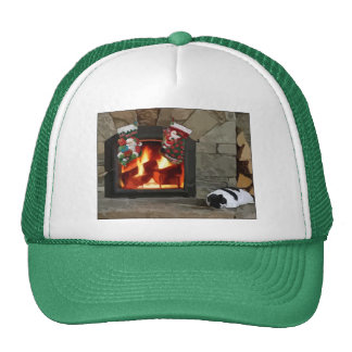 Faire une sieste par la cheminée casquette trucker