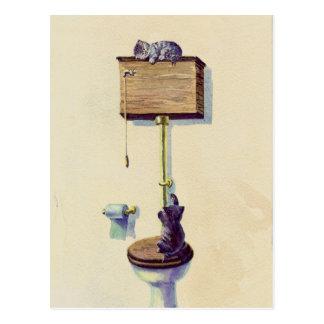 FAIRE UNE SIESTE sur le CABINET D'AISANCE par Carte Postale