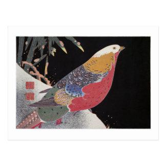 Faisan d'or dans la neige, Jakuchū Carte Postale