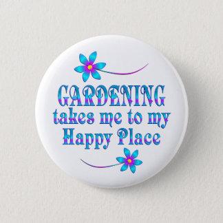 Faisant du jardinage mon endroit heureux badges