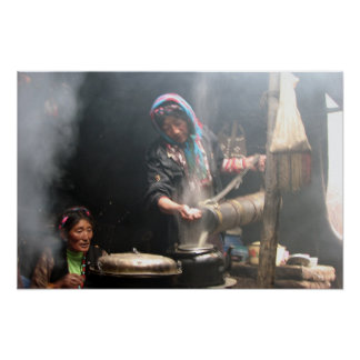 Faisant le thé de beurre (photo par la baie de Dav Poster