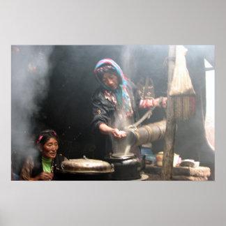 Faisant le thé de beurre (photo par la baie de Dav Posters