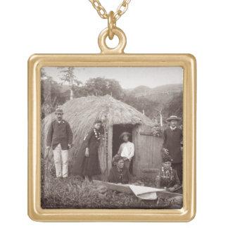Faisant Tappa, un tissu indigène, c.1875 (photo de Pendentif Carré