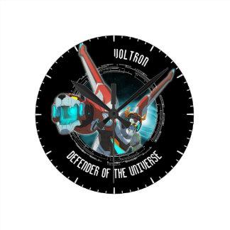 Faisceau rouge de plasma de lion de Voltron | Horloge Ronde