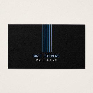 Faisceaux de bleu de carte de visite de magicien