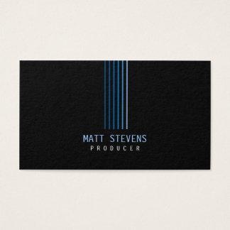 Faisceaux de bleu de carte de visite de producteur