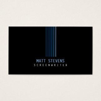Faisceaux de bleu de carte de visite de scénariste