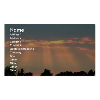 Faisceaux de Sun par des nuages Carte De Visite Standard