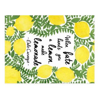 Faisons la limonade carte postale