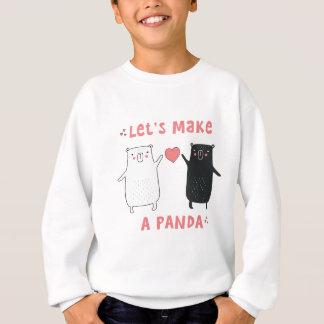 faisons un panda sweatshirt