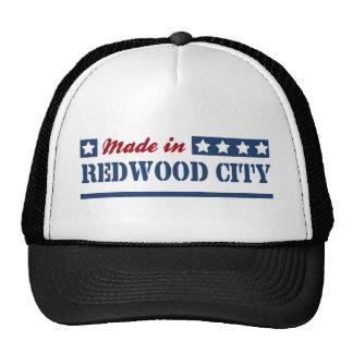 Fait à Redwood City Casquettes De Camionneur