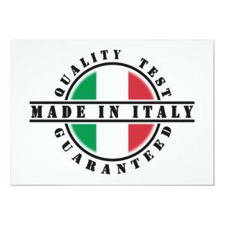 Fait dans des invitations de l'Italie Carton D'invitation 12,7 Cm X 17,78 Cm