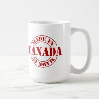 Fait dans la tasse de jour du Canada Canada