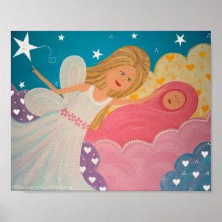 Fait dans le ciel - les anges d'enfant de la mère posters