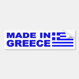 Fait dans le décalque de voiture de la Grèce avec Autocollant De Voiture