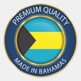 Fait dans le drapeau des Bahamas, couleurs Sticker Rond