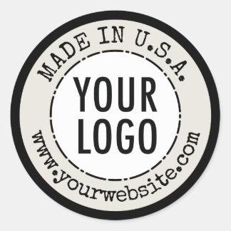 Fait dans le pays d'origine des étiquettes de sticker rond