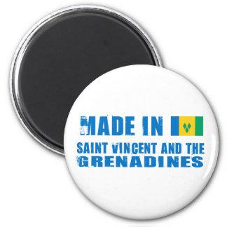 Fait dans le Saint-Vincent-et-les-Grenadines Magnet Rond 8 Cm