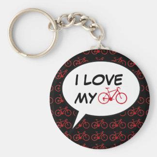 fait du vélo la bulle de la parole de bande porte-clés