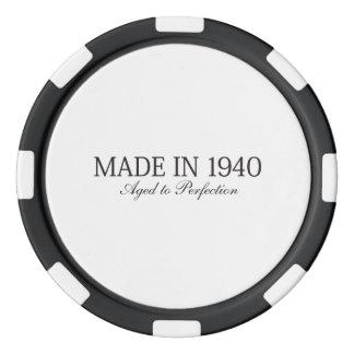 Fait en 1940 rouleau de jetons de poker