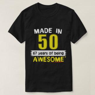 Fait en 1950 67 ans d'être impressionnant t-shirt