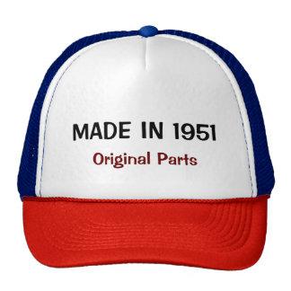 Fait en 1951, pièces originales, texte fait sur casquette