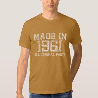 FAIT en 1961 toute la pièce en t ORIGINALE de T-shirts
