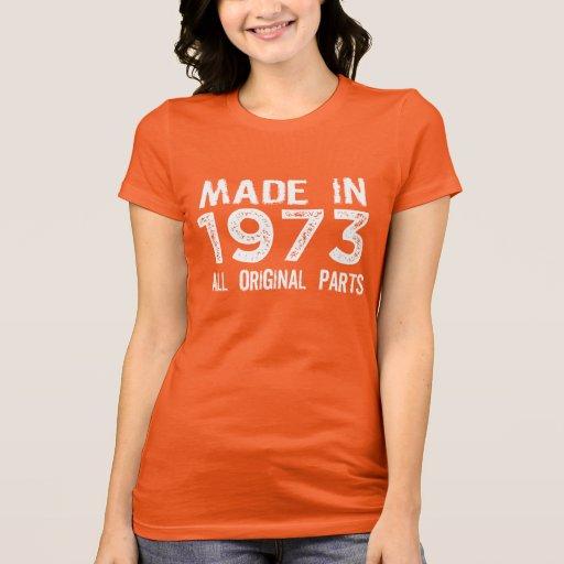 FAIT en 1973 toute la pièce en t ORIGINALE de pièc T-shirt
