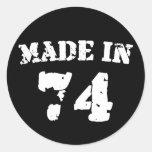 Fait en 1974 sticker rond