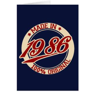 Fait en 1986 carte de vœux