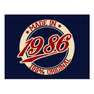 Fait en 1986 cartes postales