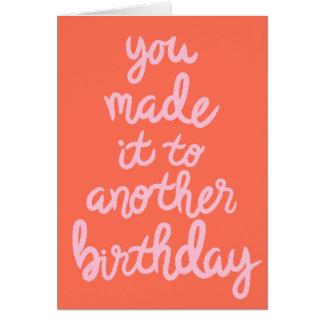 Fait lui à un autre anniversaire cartes