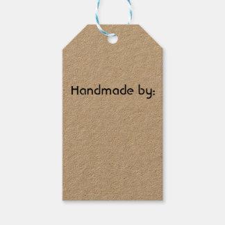 Fait main par des étiquettes de cadeau, étiquettes