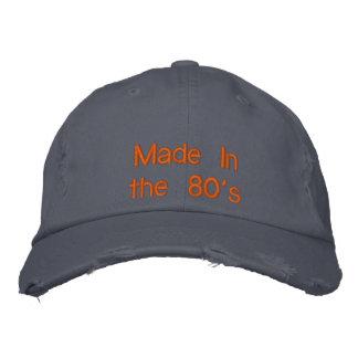 Fait pendant les années 80 casquette brodée