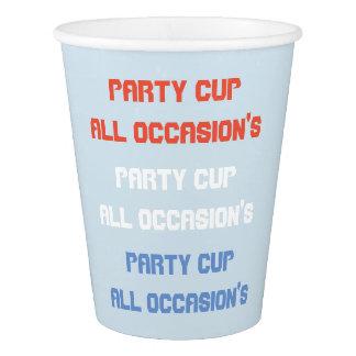 fait sur commande toute l'occasion de partie tasse gobelets en papier