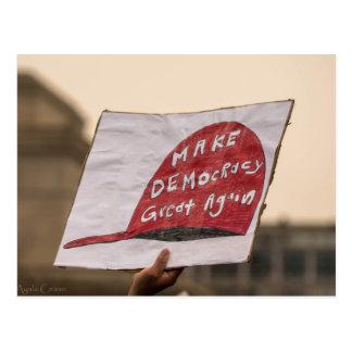 Faites à démocratie la grande encore carte postale
