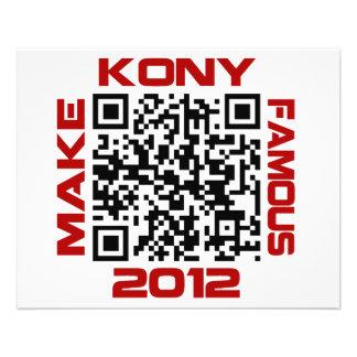 Faites à Kony le code visuel célèbre Joseph Kony d Prospectus 11,4 Cm X 14,2 Cm