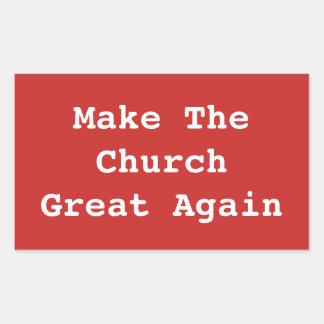 Faites à l'église le grand encore autocollant