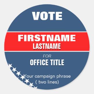 Faites à votre campagne l'autocollant rond sticker rond